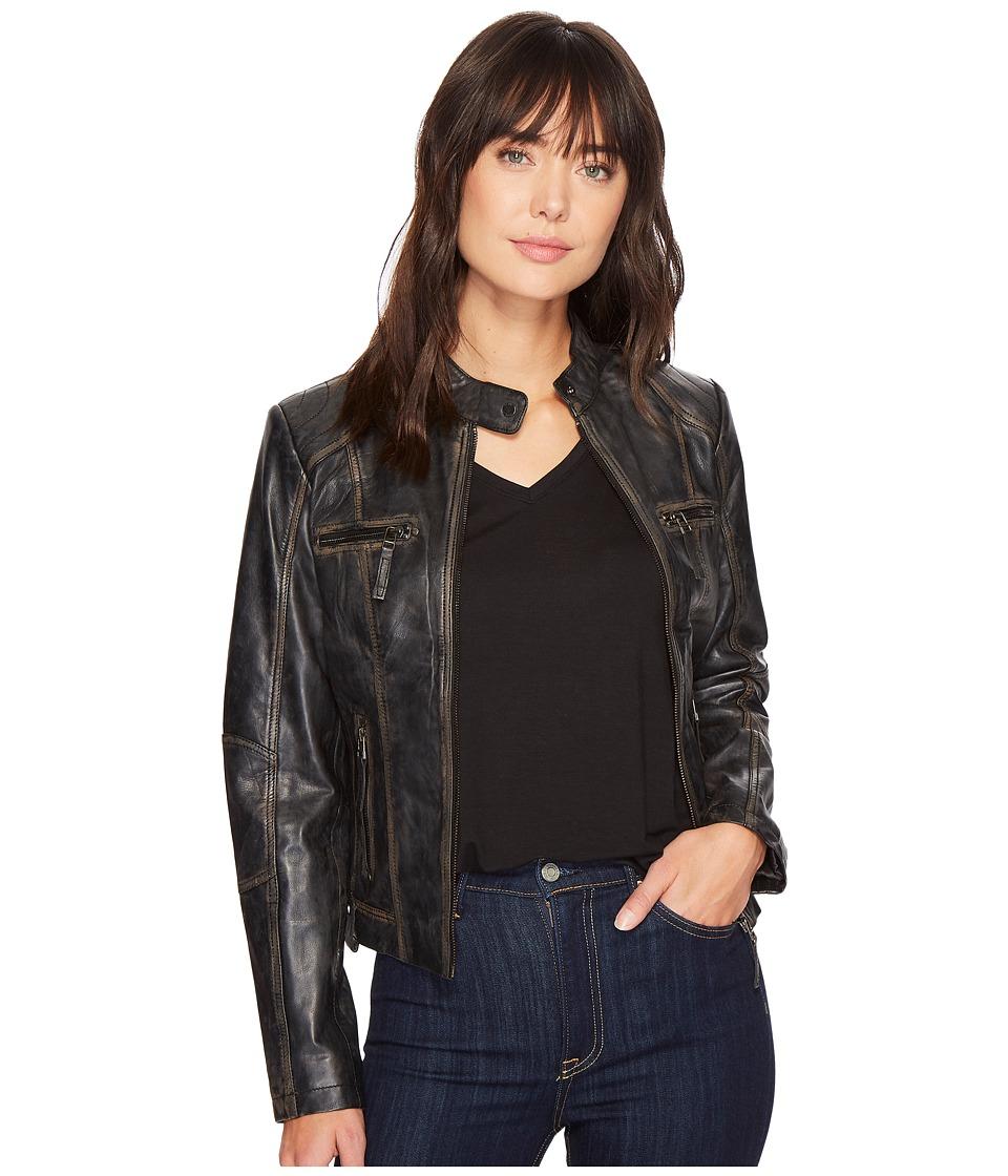 Scully Carmen Chic Moto (Black) Women's Jacket