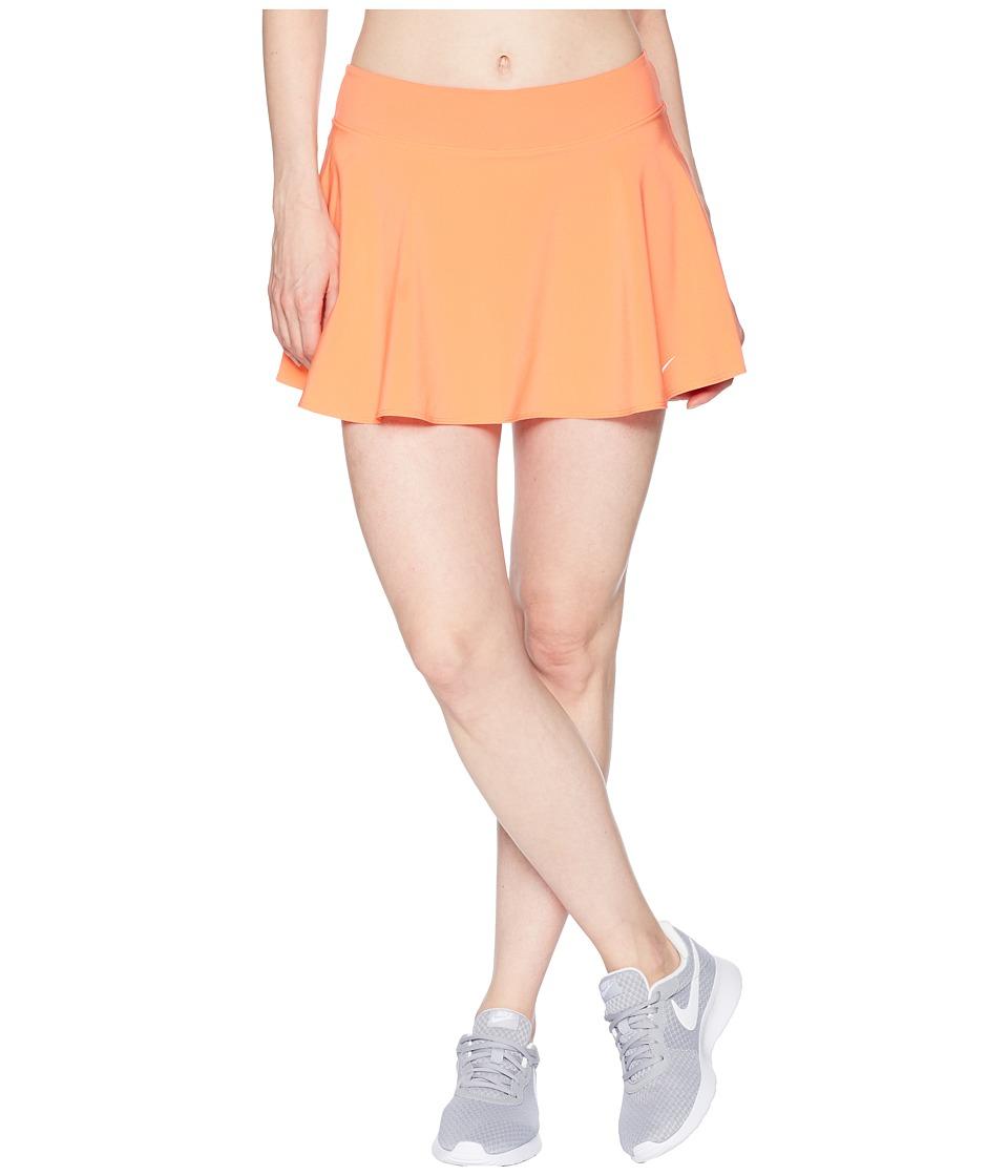 Nike Nike Court Flex Pure Tennis Skirt (Light Wild Mango/White) Women