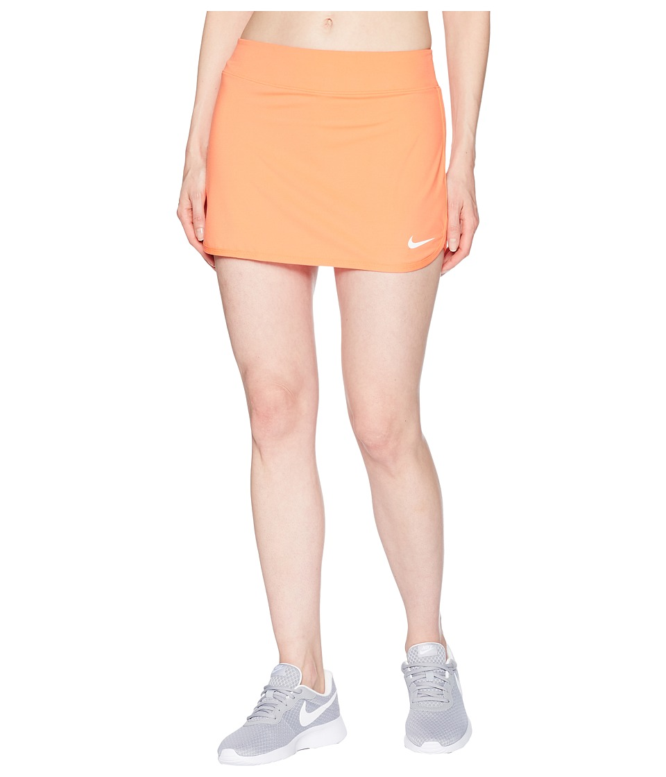 Nike Court Pure Tennis Skirt (Light Wild Mango/White) Women
