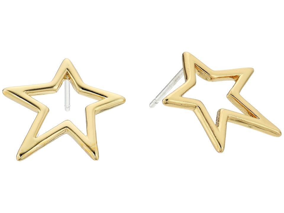 Rebecca Minkoff - Open Star Stud Earrings (Gold) Earring