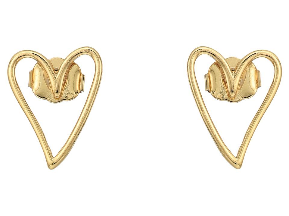 Rebecca Minkoff - Open Heart Stud Earrings (Gold) Earring