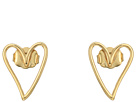 Rebecca Minkoff Open Heart Stud Earrings