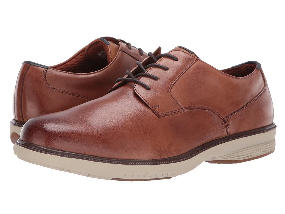 Nunn Bush - Marvin Street Plain Toe Oxford with KORE Slip Resistant Walking Comfort Technology (Camel Multi) Mens Plain Toe Shoes