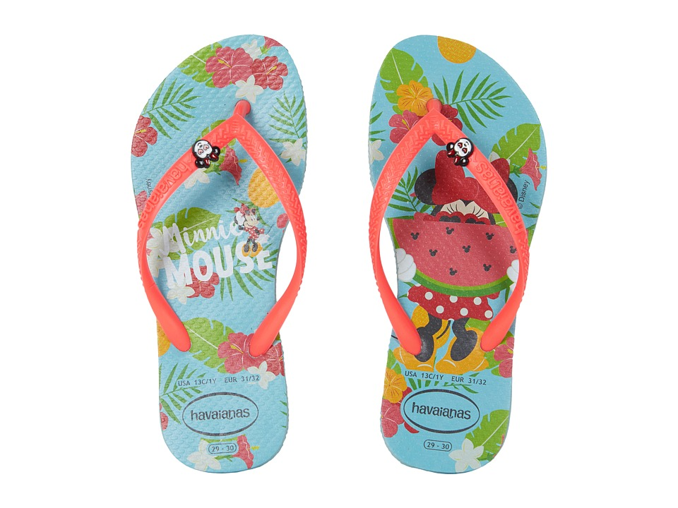 Havaianas Kids - Slim Disney Cool Flip Flops (Toddler/Little Kid/Big Kid) (Ice Blue) Girls Shoes