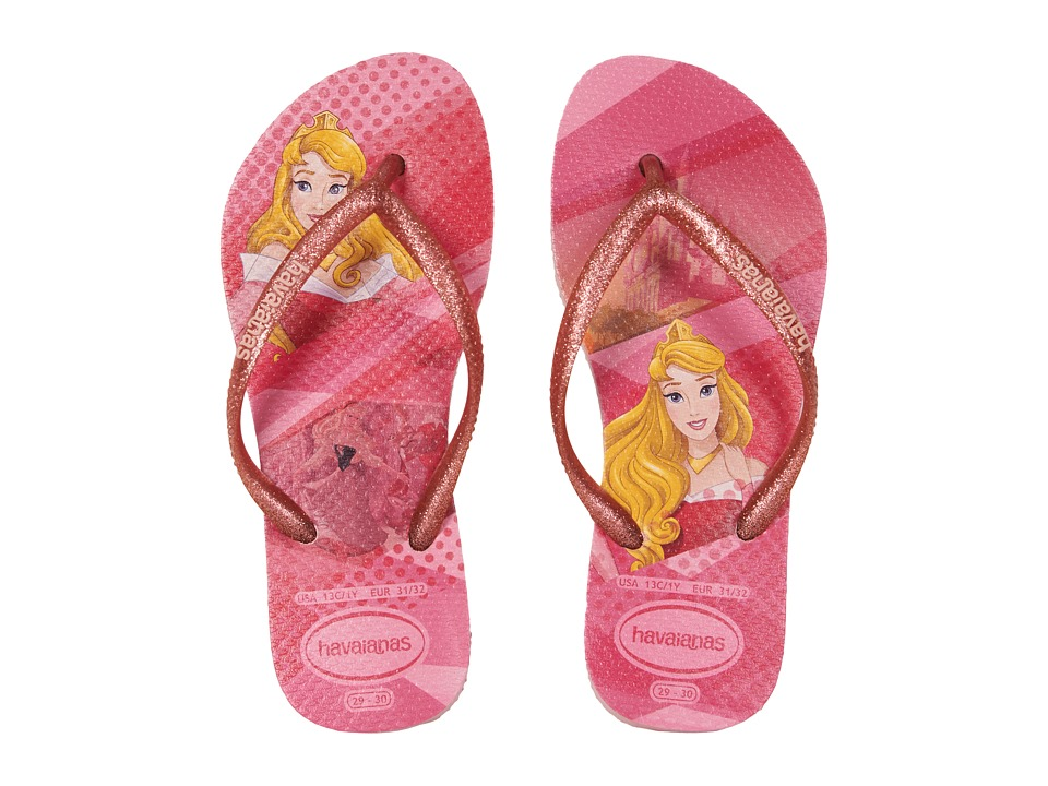 Havaianas Kids Slim Princess Flip Flops (Toddler/Little Kid/Big Kid) (Pink) Girls Shoes