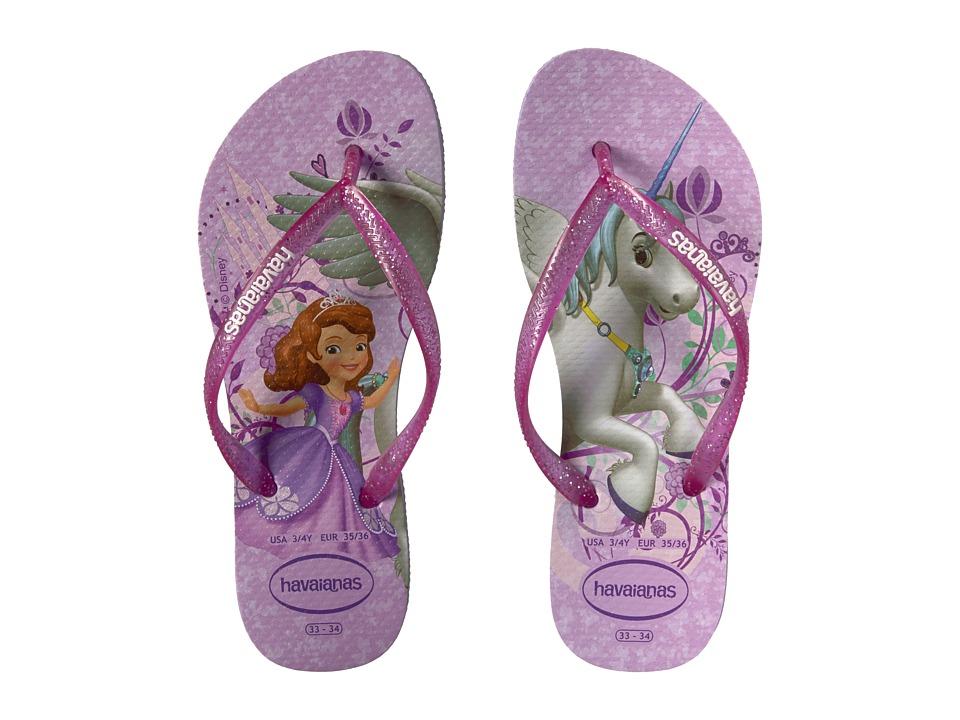 Havaianas Kids - Slim Princess Sofia Flip Flops (Toddler/Little Kid/Big Kid) (Purple/Lavender) Girls Shoes