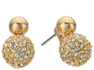 Rebecca Minkoff Mini Double Sphere Pave Stud Earrings