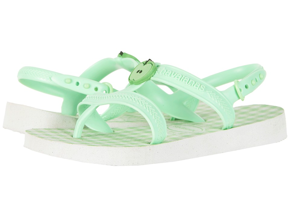 Havaianas Kids - Joy Spring Sandals (Toddler/Little Kid/Big Kid) (White/Hydrogreen) Girls Shoes
