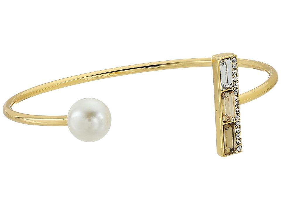 Rebecca Minkoff - Pearl and Stone Cuff Bracelet (Gold/Pearl) Bracelet