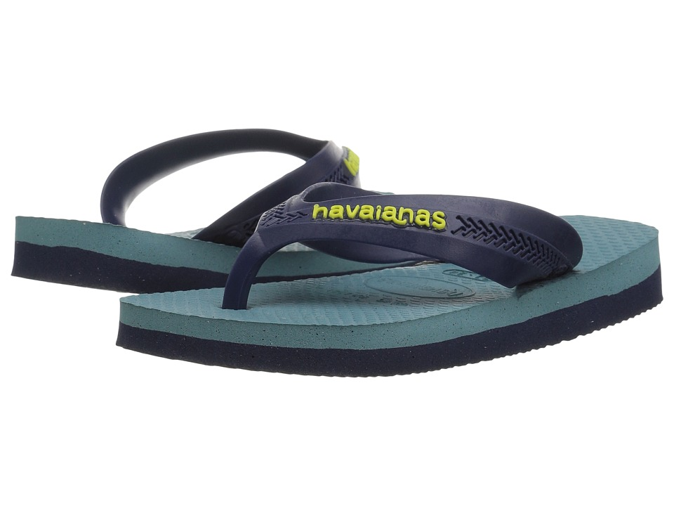 Havaianas Kids - Max (Toddler/Little Kid/Big Kid) (Navy Blue/Mineral Blue) Boys Shoes
