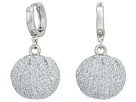 Rebecca Minkoff High Shine Pompom Huggie Earrings