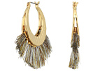 Rebecca Minkoff Palm Tassel Hoops Earrings