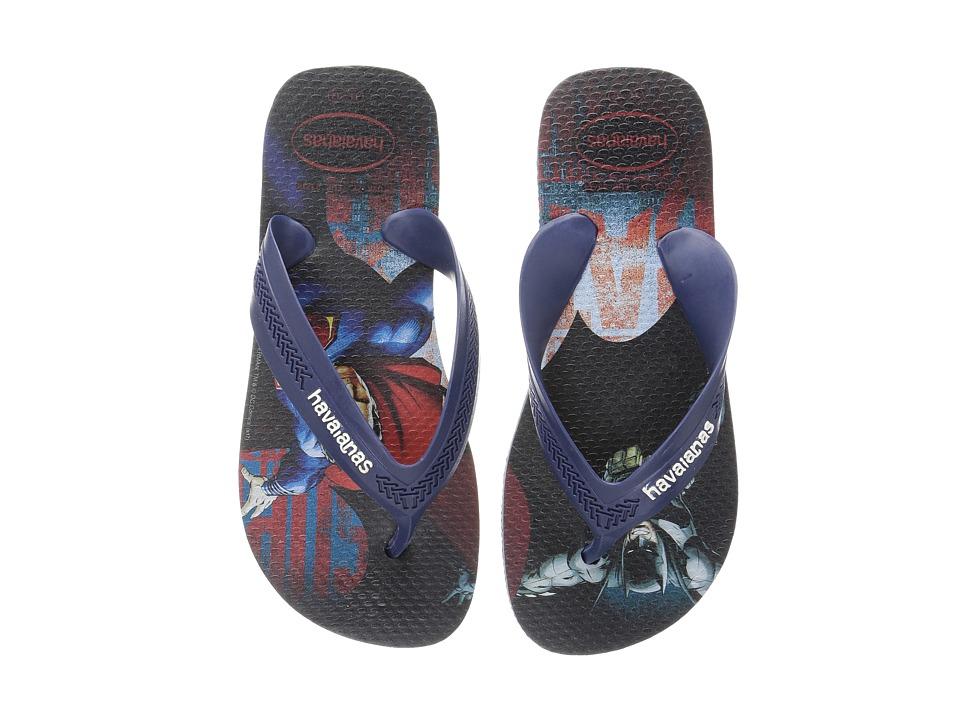 Havaianas Kids - Max Heroes Flip Flops (Toddler/Little Kid/Big Kid) (Indigo Blue) Boys Shoes