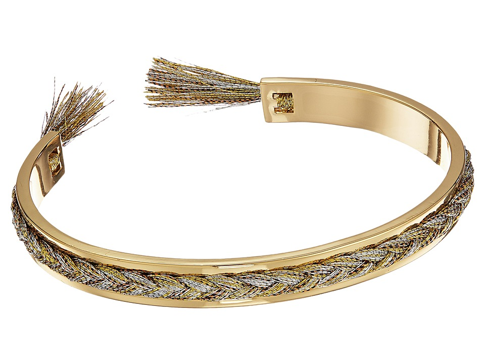 Rebecca Minkoff - Braided Cuff Bracelet (Gold/Metallic Multi Thread) Bracelet