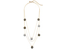 Rebecca Minkoff High Shine Pompom Layered Necklace