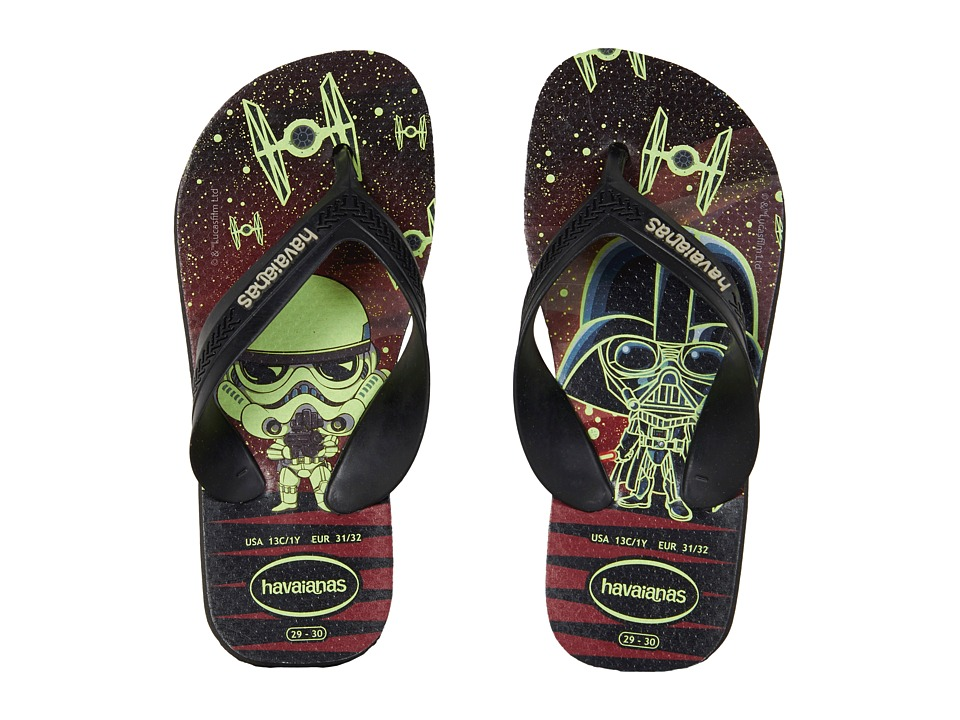 Havaianas Kids Max Star Wars Flip Flops (Toddler/Little Kid/Big Kid) (Black/Black) Boys Shoes