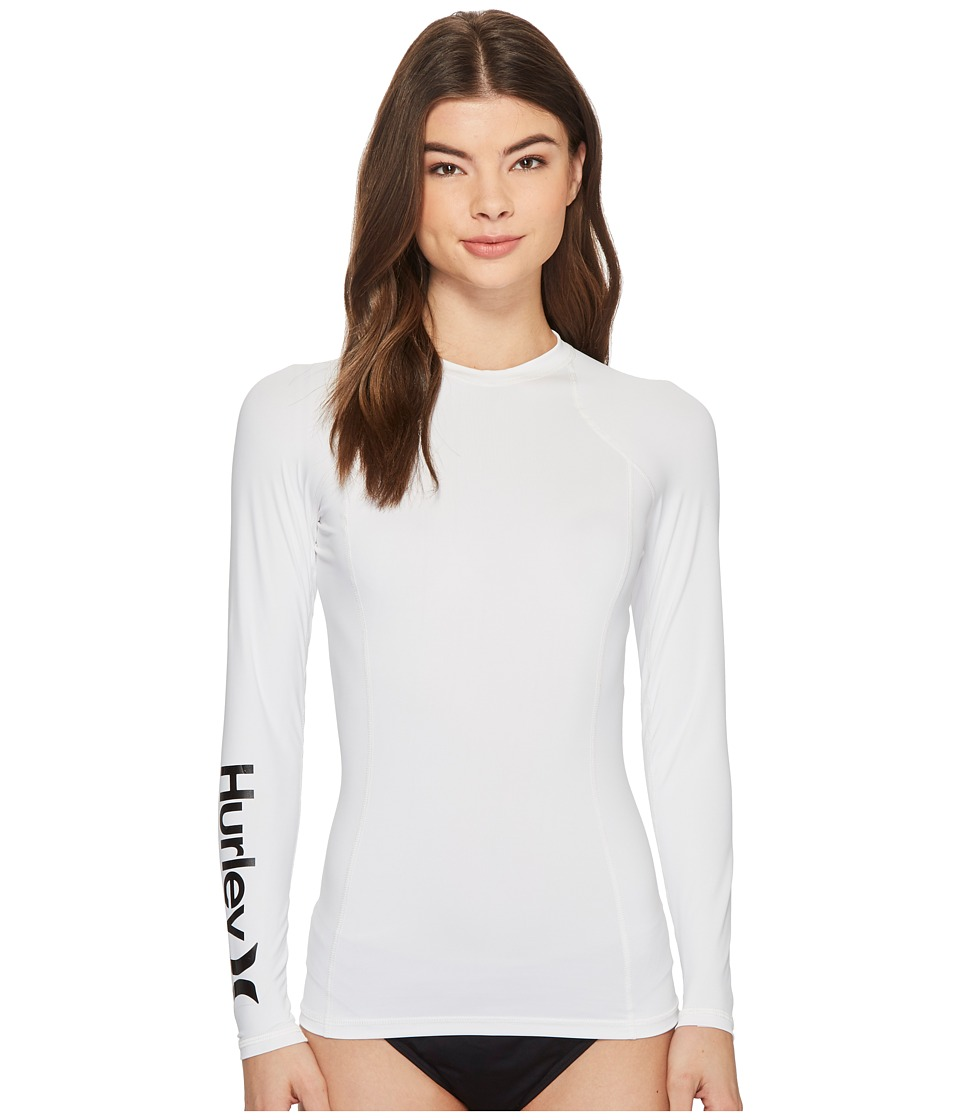 Hurley One and Only Long Sleeve Rashguard (White)
