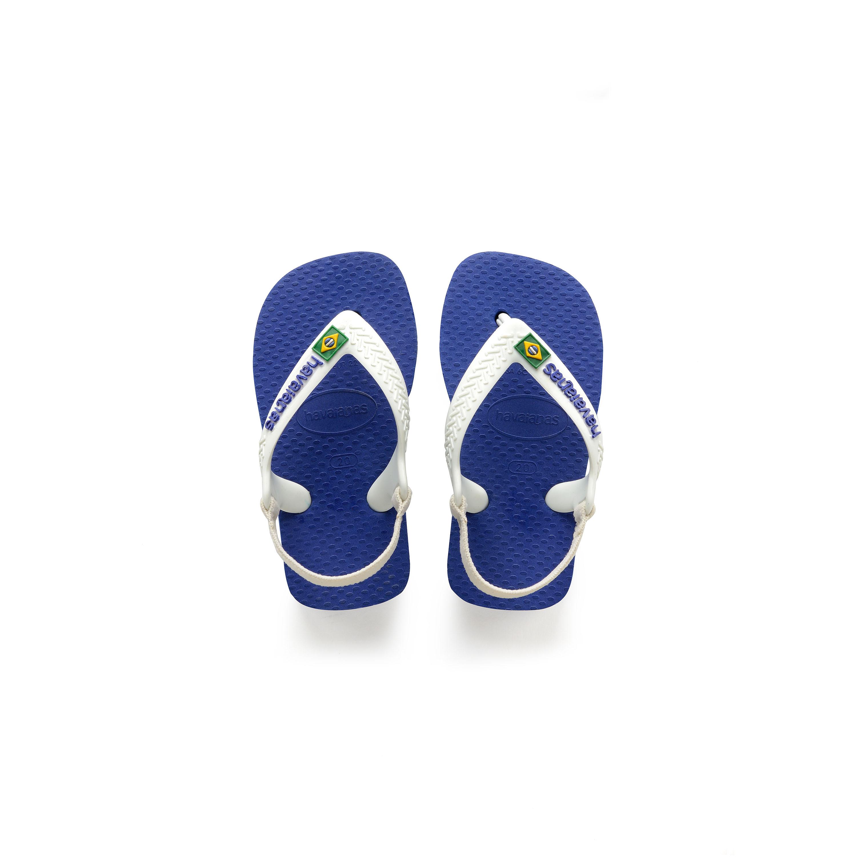 Havaianas Kids - Baby Brazil Logo Flip-Flop (Toddler) (Marine Blue) Boys Shoes