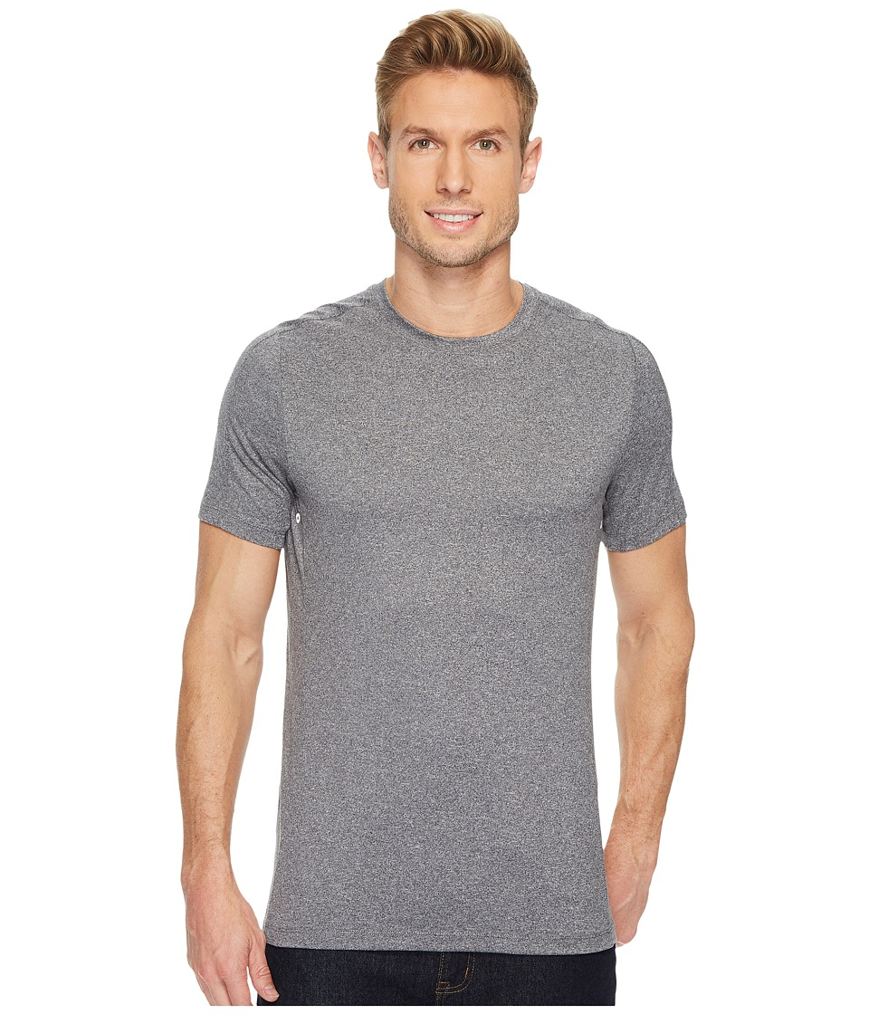 Perry Ellis PE360 Active Stretch Solid Crew (Alloy Heather) Men