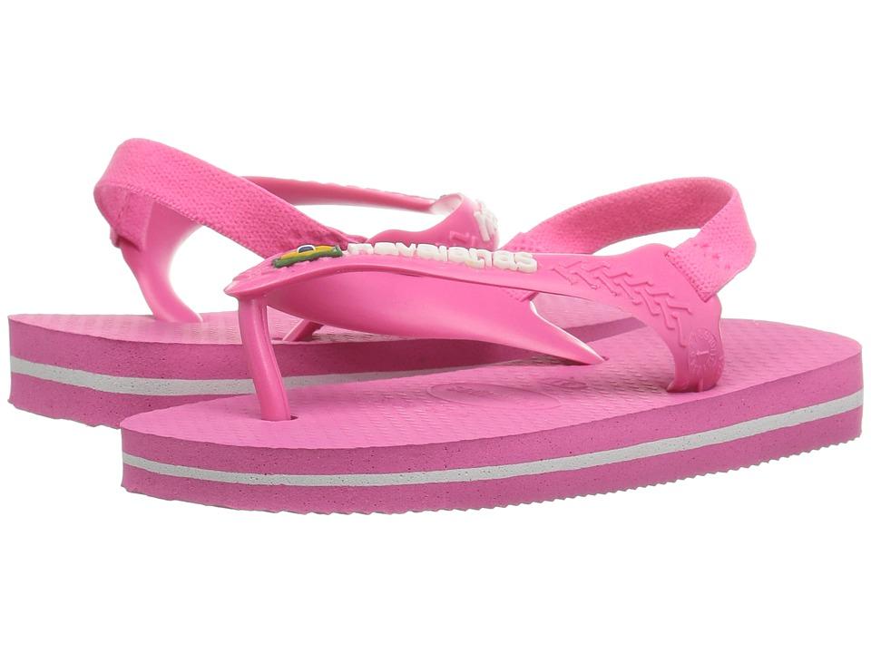 Havaianas Kids - Baby Brazil Logo Flip-Flop (Toddler) (Shocking Pink) Girls Shoes