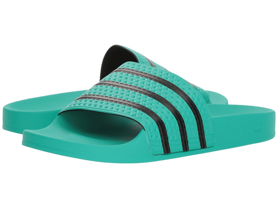 Adidas Originals - adilette (Hi-Res Green S18/Core Black/...