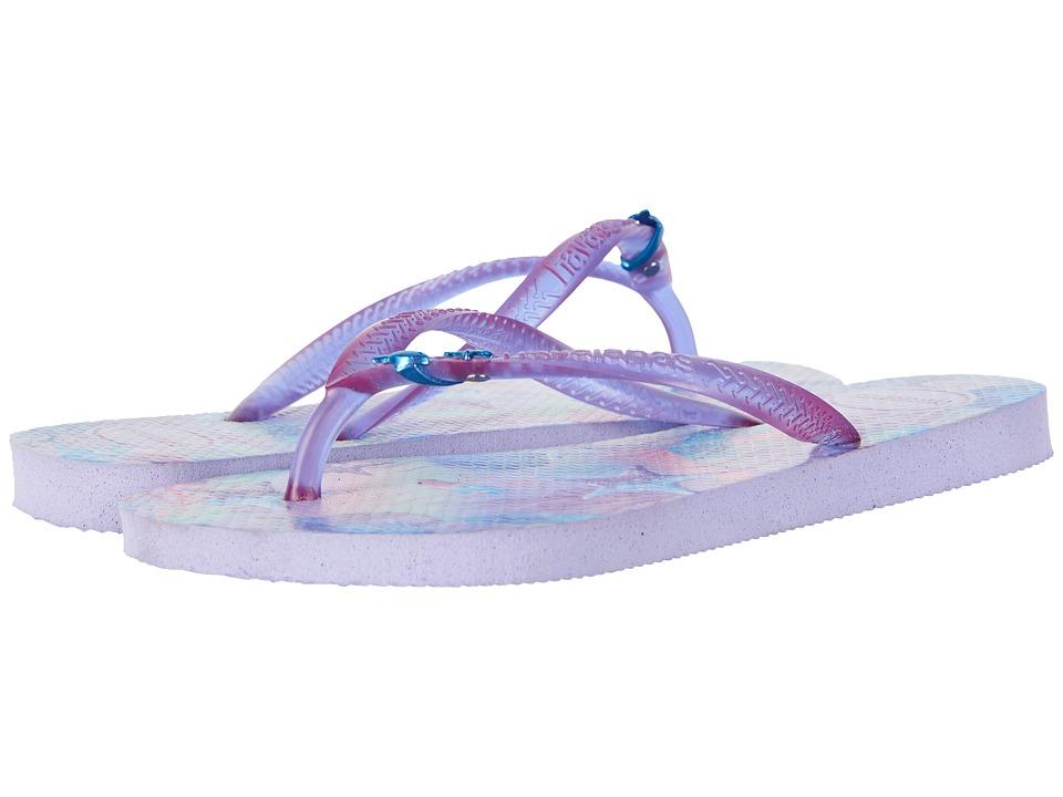 Havaianas Kids - Slim Summer Flip-Flop (Toddler/Little Kid/Big Kid) (Lavender) Girls Shoes