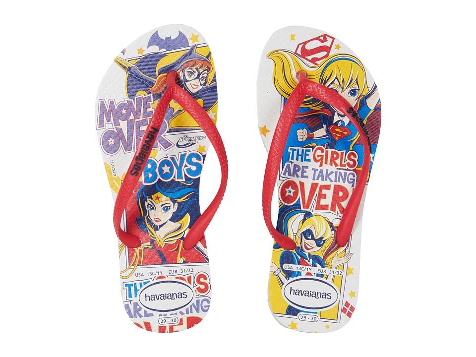 Havaianas Kids - DC Super Hero Girls Flip-Flop (Toddler/Little Kid/Big Kid) (White) Girls Shoes