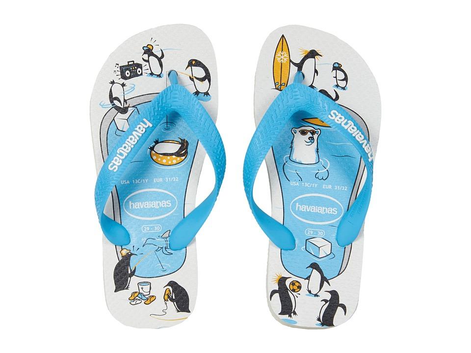 Havaianas Kids - Top Play Flip-Flop (Toddler/Little Kid/Big Kid) (White) Boys Shoes
