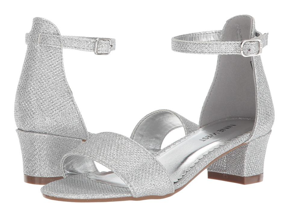Nine West Kids - Eevah (Little Kid/Big Kid) (Silver Metallic) Girls Shoes