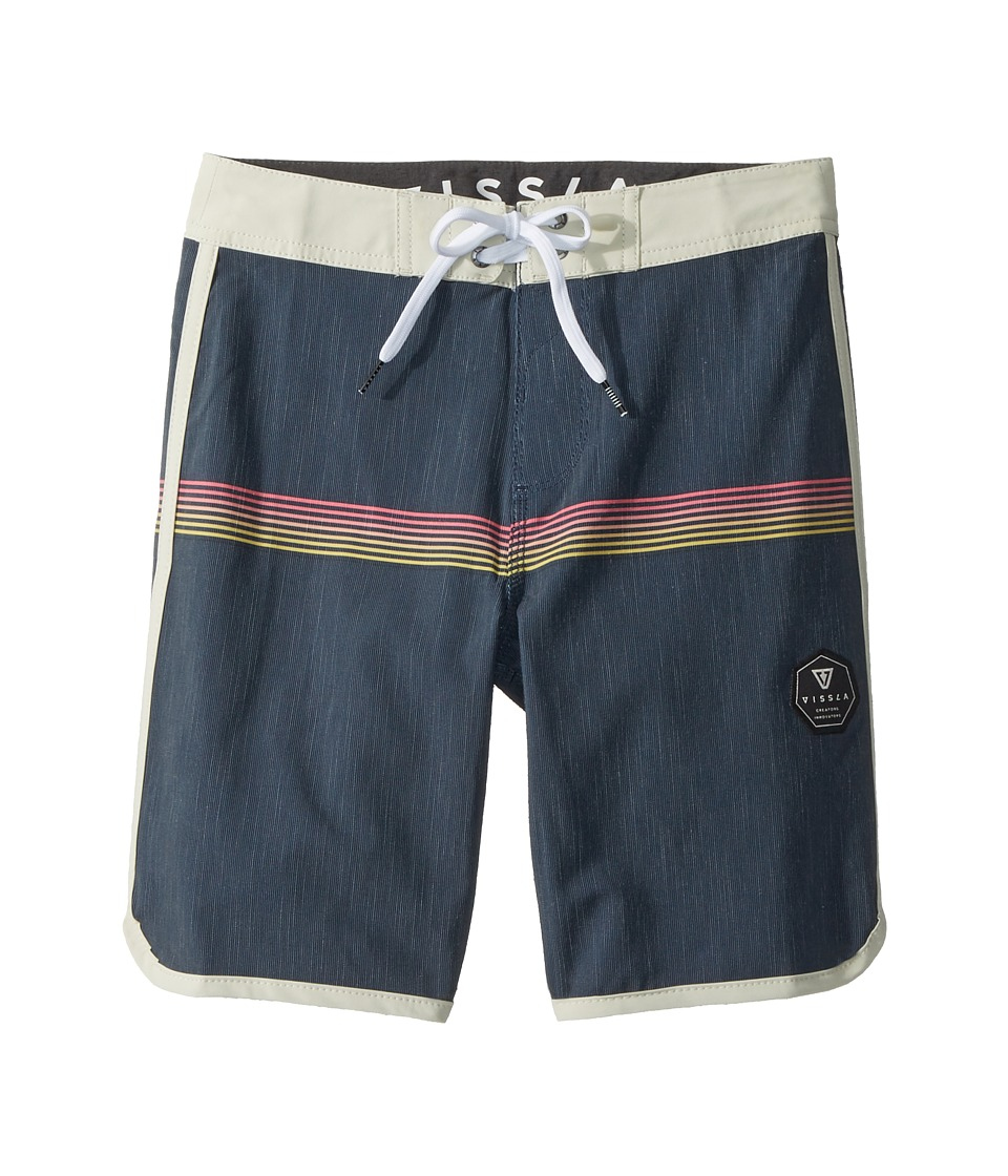 VISSLA Kids Dredges Four-Way Stretch Boardshorts 17 (Big Kids) (Dark Navy) Boy