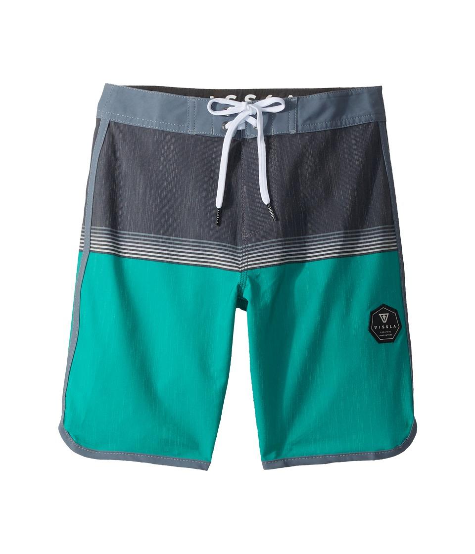VISSLA Kids Dredges Four-Way Stretch Boardshorts 17 (Big Kids) (Green) Boy
