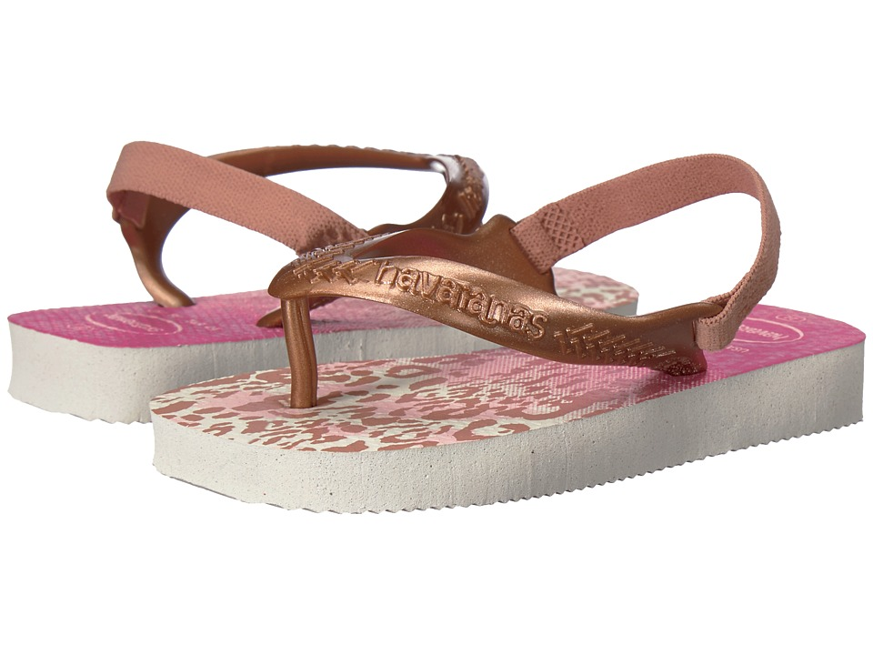 Havaianas Kids - Baby Chic Flip-Flop (Toddler) (White/Golden Blush) Girls Shoes