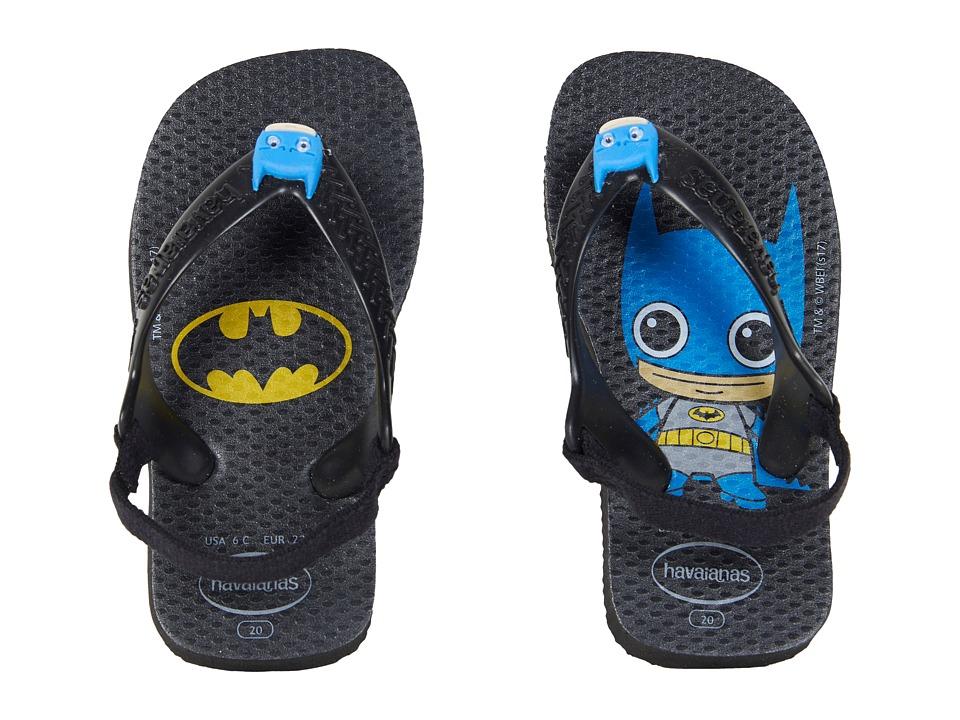 Havaianas Kids - Baby Heroes Flip-Flop (Toddler) (Black) Boys Shoes