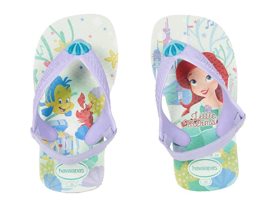 Havaianas Kids - Baby Disney Princess Flip-Flop (Toddler) (White) Girls Shoes