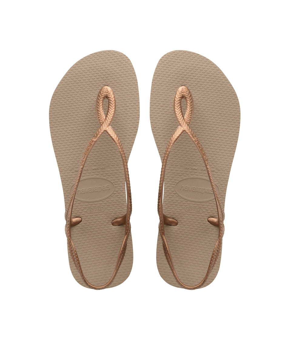 Havaianas Kids - Luna Sandals (Little Kid/Big Kid) (Rose Gold) Girls Shoes