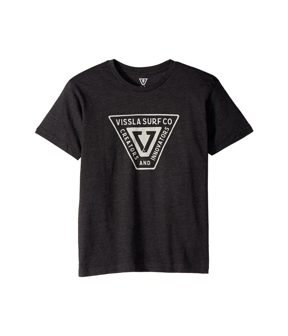 VISSLA Kids - Interstate T-Shirt (Big Kids) (Black Heather) Boys T Shirt