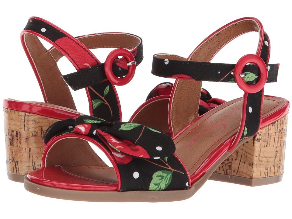 Jessica Simpson Kids - Cherice (Little Kid/Big Kid) (Black Cherry Print Fabric) Girls Shoes