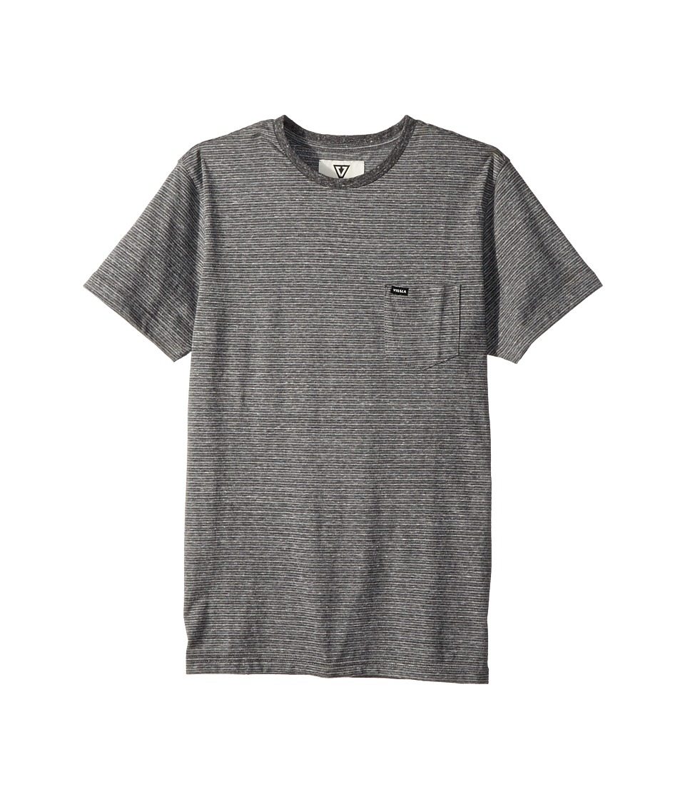 VISSLA Kids - Sartine Short Sleeve Knit Top (Big Kids) (Black Heather) Boys Short Sleeve Knit