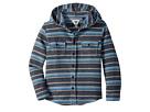 VISSLA Kids Pumphouse Flannel Long Sleeve Hooded Woven Top (Big Kids)