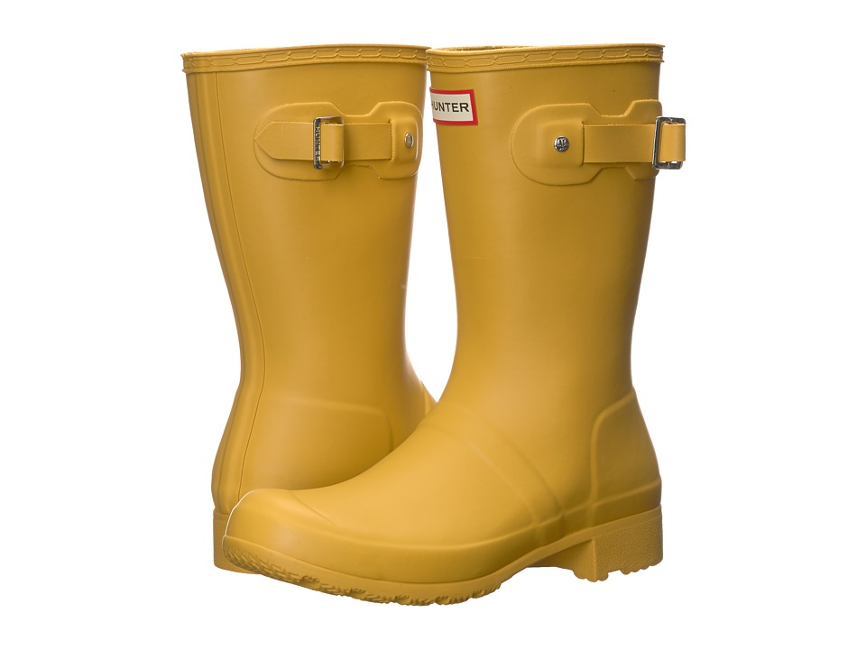 Hunter Original Tour Short Rain Boots (Fennel Seed) Women