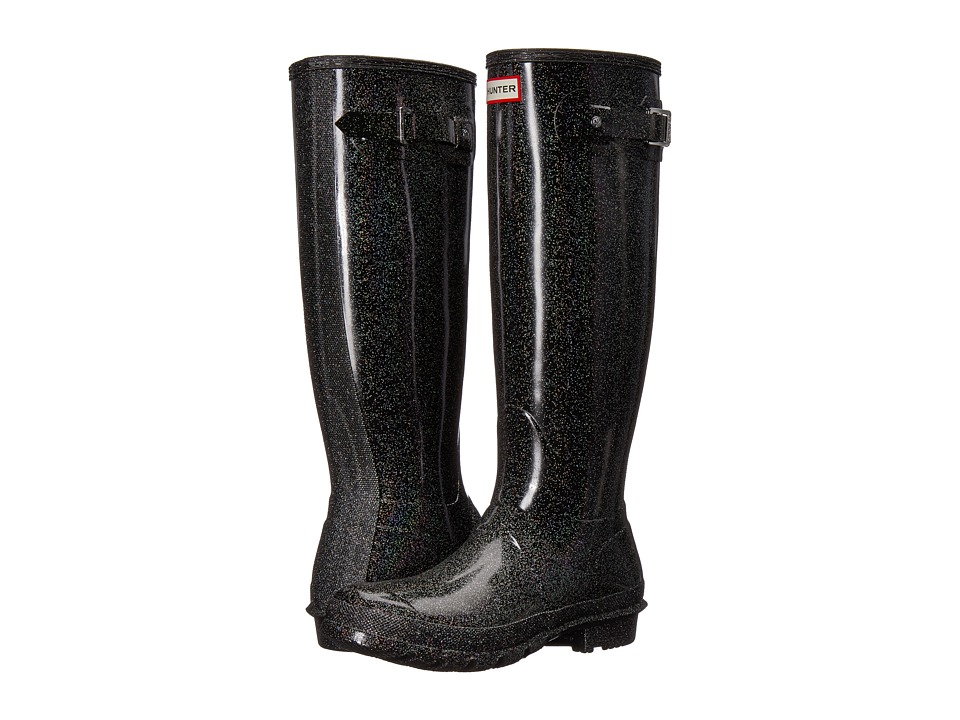 Hunter Original Starcloud Tall Rain Boots (Black Multi) Women's Rain Boots