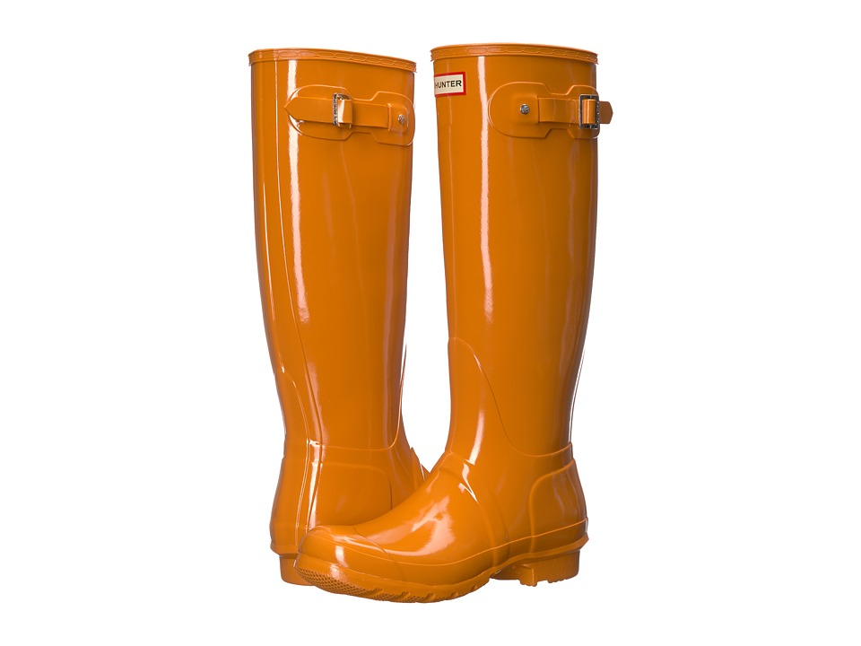 Hunter Original Tall Gloss Rain Boots (Marigold) Women