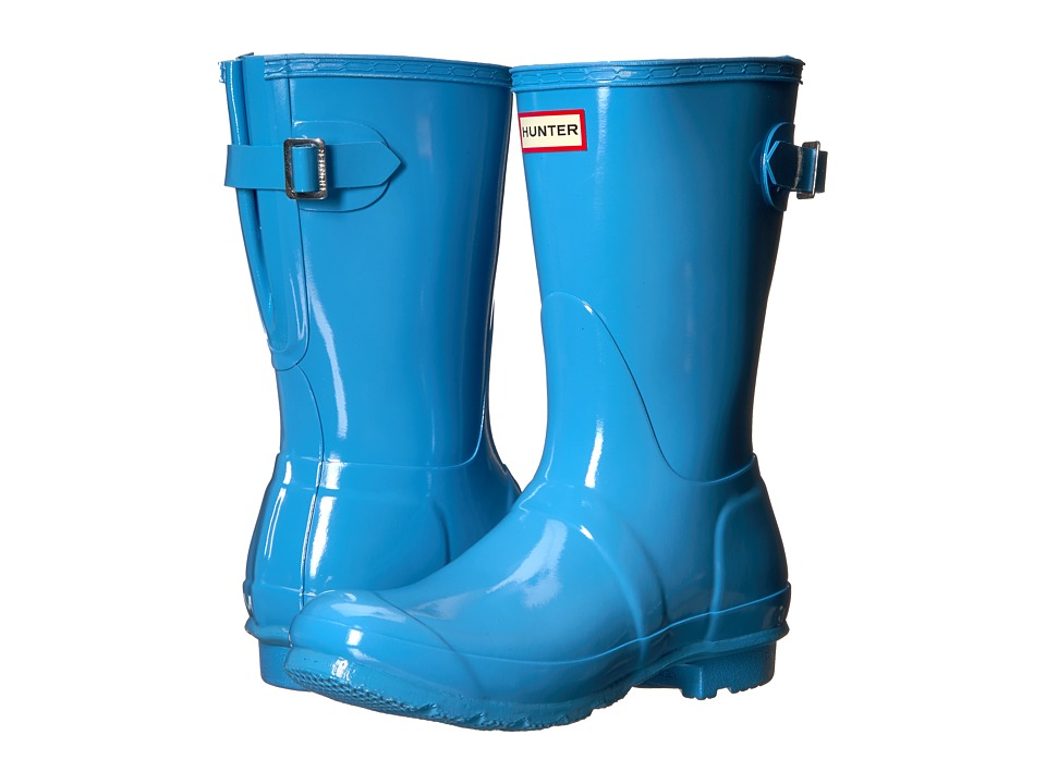 Hunter Original Back Adjustable Short Gloss Rain Boots (Forget Me Not) Women
