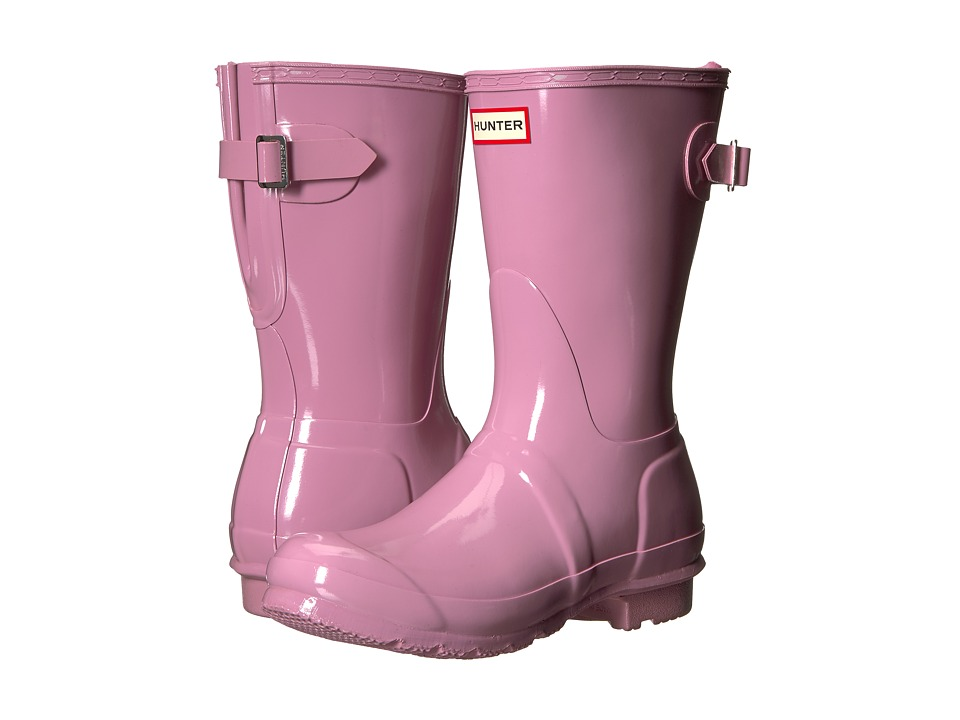 Hunter Original Back Adjustable Short Gloss Rain Boots (Blossom) Women