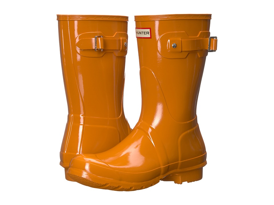 Hunter Orignal Short Gloss Rain Boots (Marigold) Women