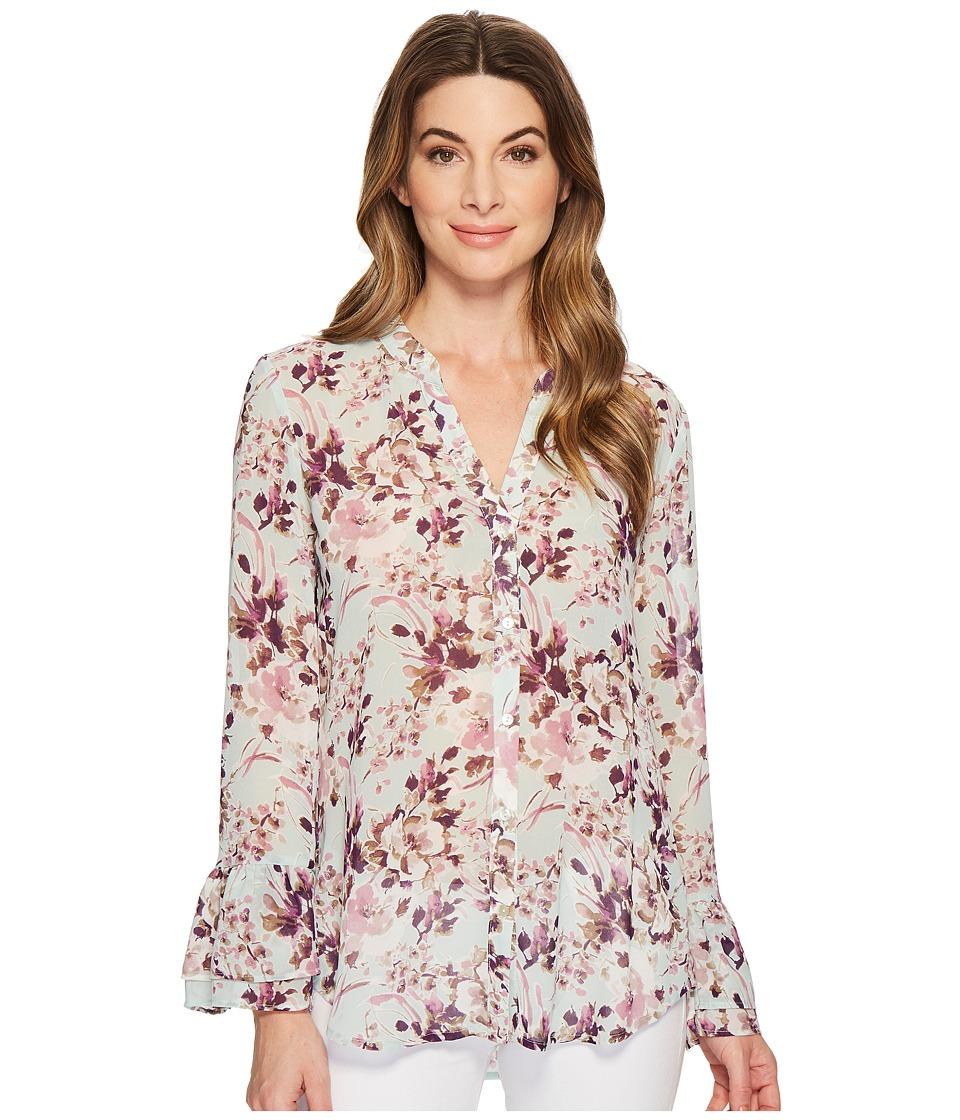 Kut Gilda Double Ruffle Shirt (Mint) Women's Long Sleeve ...