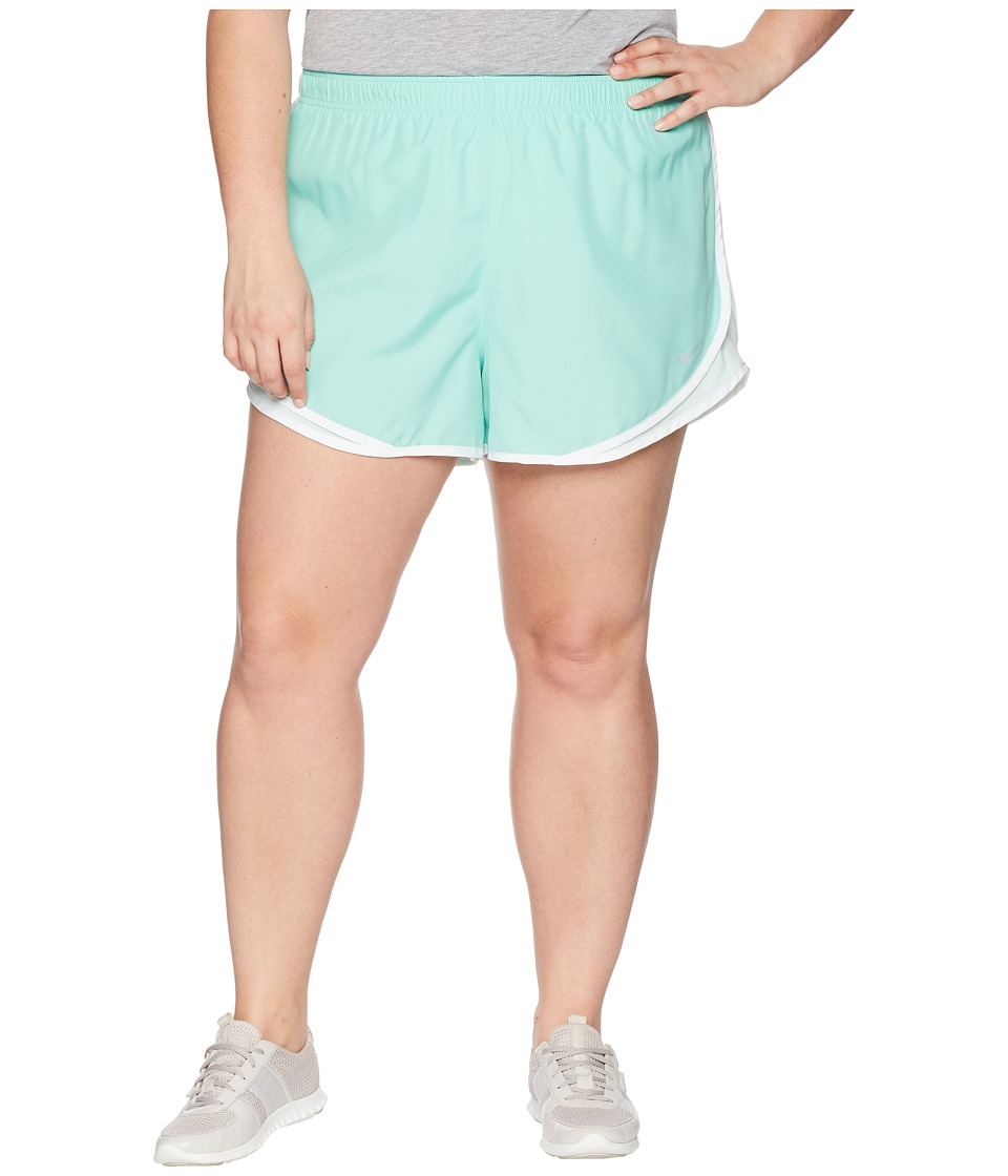 Nike Dry Tempo 3 Running Short (Size 1X-3X) (Emerald Rise/Igloo/Light Menta/Wolf Grey) Women