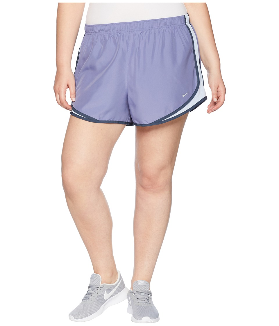 Nike Dry Tempo 3 Running Short (Size 1X-3X) (Pulse Slate/Royal Tint/Wolf Grey) Women