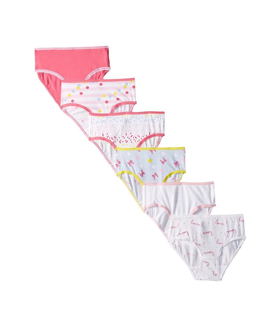 Trimfit 6-Pack Bows Cotton Tagless Briefs Underwear (Toddler/Little Kids/Big Kids) (Assorted) Girl's Underwear