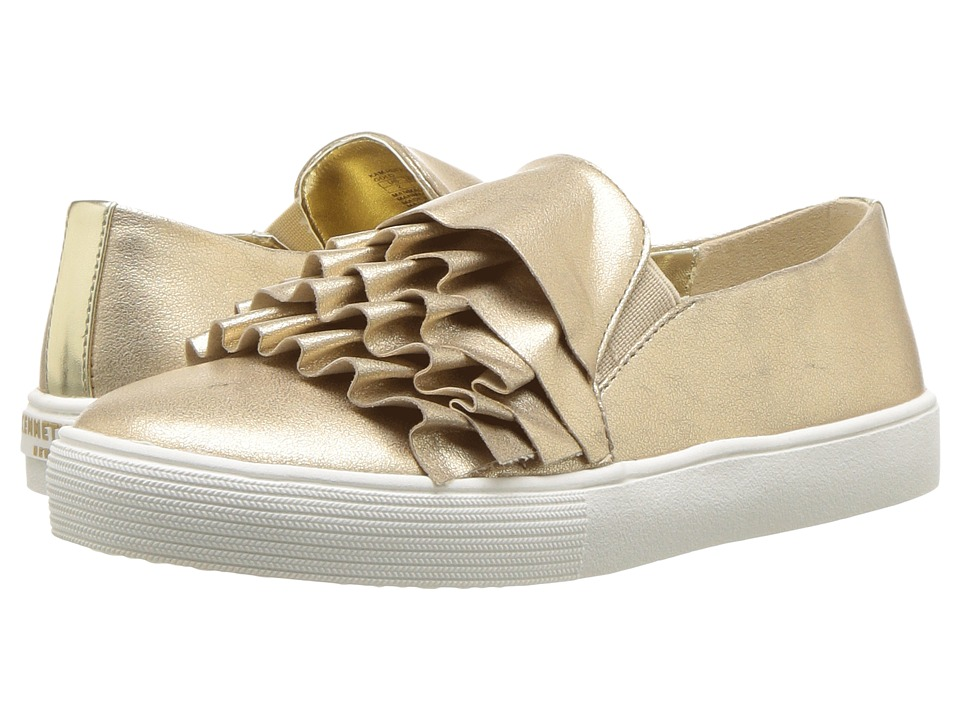 Kenneth Cole Reaction Kids - Kam Ruffle (Little Kid/Big Kid) (Gold) Girls Shoes